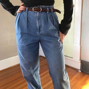 Denim - Vintage Calvin Klein Pleated High Waist Mom Jeans